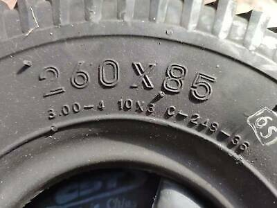 "Four 260 x 85 Mobility Scooter Tyres & Tubes  (3.00 x 4"") Black"