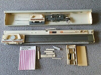 Vintage Brother KH 710 Knitting Machine With Case Accessories & Instructions