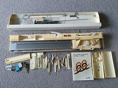 Vintage Brother KH-836 Knitting Machine In Case With Accessories & Instructions