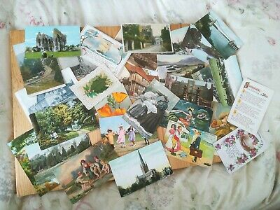 Job Lot Collection of Old Antique Vintage mixed Post Cards Genealogy 30 in all.