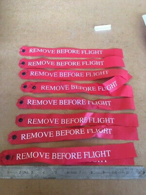 10 Removed Before Flight Labels. Ex MOD
