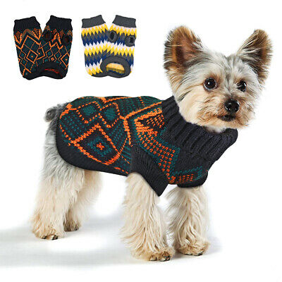Christmas Dog Jumper Small Dogs Chihuahua Pet Cat Puppy Sweater Knitwear Clothes