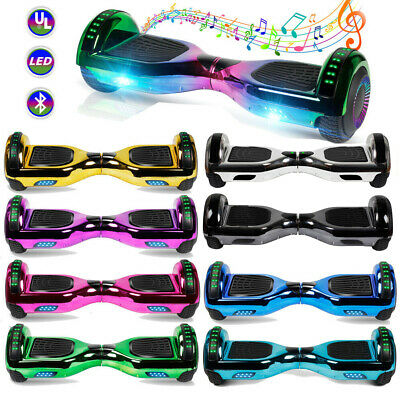 6.5'' Chrome Hoverboard Electric Self Balancing Scooter UL2272+Bluetooth/LED/Bag