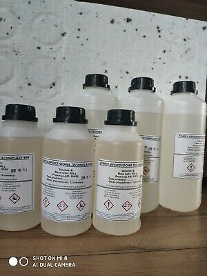 Epoxy Resin 1Kg Clear Crystal Worktops River Tables Jewellery Boats And More !!!