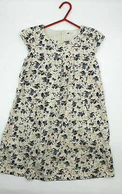 Girls Clothes 7-8 Years Outfit H&M Cotton Cream Pretty Ditsy Garden Dress