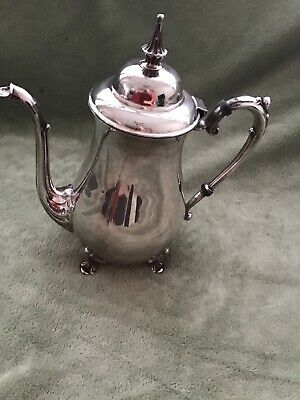 Vintage Never Used Sheridan Silver Plated Tea Coffee Pot Pitcher Feeted  1970's