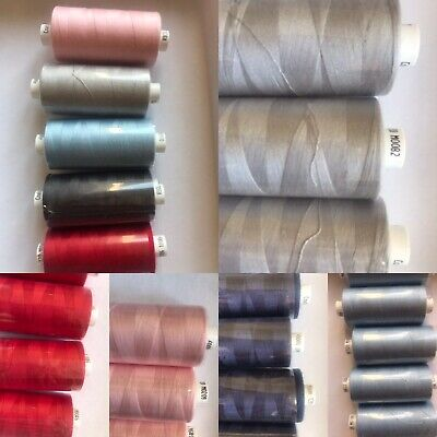 Sale -Mixed Pack Of Six Coats Moon Polyester Sewing Thread