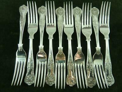 10  nice vintage EPNS A1 Dinner Table Forks kings pattern silver plated
