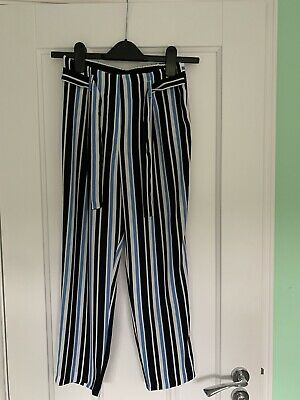 Girls River Island Stripy Trousers Age 11 Years