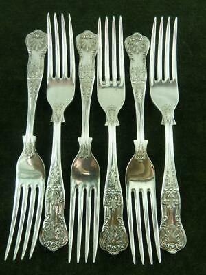 6  nice vintage EPNS A1 Dessert Side Forks kings pattern silver plated #7
