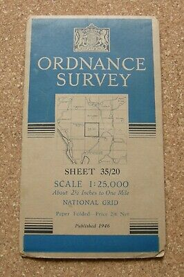 Ordnance Survey Map Westmorland / Cumberland Sheet 35/20 1946. Scale 1 : 25 000.