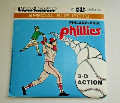 Philadelphia Phillies Viewmaster Reels 1981 Set L19 Baseball Rare   F646