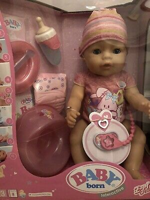 Brand New In Box Baby Born Interactive Girl Doll Zapf Creation With Accessories