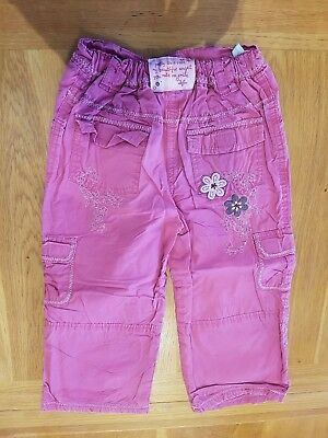ADAMS Pink 'Flower' Combat Trousers - Size 3-4 years - Combined P&P Offered