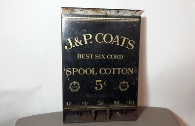Antique J&P Coats Metal Spool Cabinet. Counter Display.