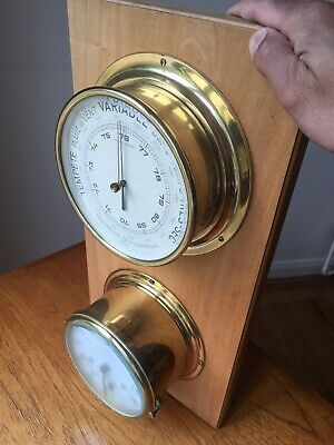 Schatz Royal Mariner Ships Clock And Barometer