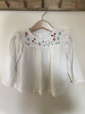 Marks And Spencer Baby Girls Embroidered Blouse Age 18-24 Months