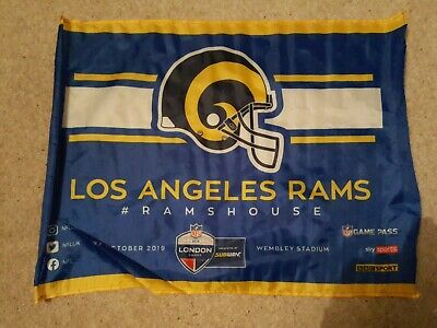 Los Angeles Rams Nfl Wembley Stadium , London, England 2019 Fan Flag