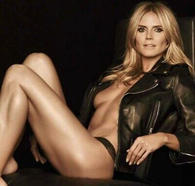 HEIDI KLUM -IN A Pair Of Panties And A Leather Jacket !! Very Sexy ...