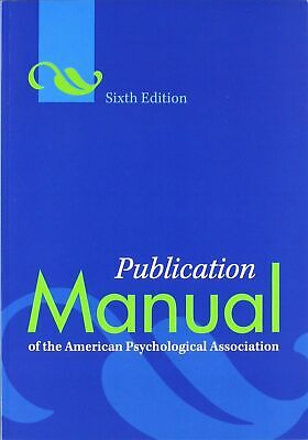 APA Style - Publication Manual of American Psychological Association 6th Ed
