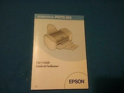 Epson Stylus Photo 925 User's Guide (No Printer Included) Manual
