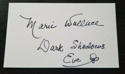 Autographed Marie Wallace 3x5 index card w/coa   DARK SHADOWS