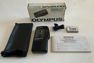 OLYMPUS PEARLCORDER S710 Dictaphone / Voice Recorder- 1 x Tape, Case & Earphone