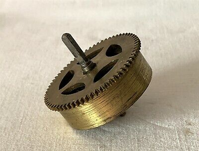 Vintage Brass Clock Barrel, Mainspring & Size 5 Spindle NO KEY #14