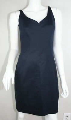 Elie Tahari Navy Blue Sleeveless Sweetheart Neckline Sheath Dress 6 S SM Small