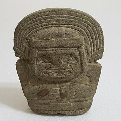 Pre Columbian Basalt Stone Statue Probably Depicting Jaguar God.