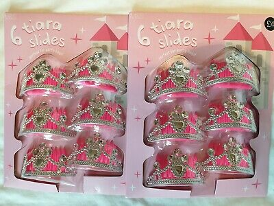 Marks and Spencer (M&S) 12 tiara slides (girls party favour / party bags) BNIP