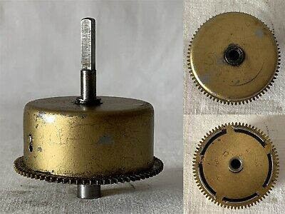 Vintage Brass Clock Barrel, Mainspring & Size 9 Spindle NO KEY #7