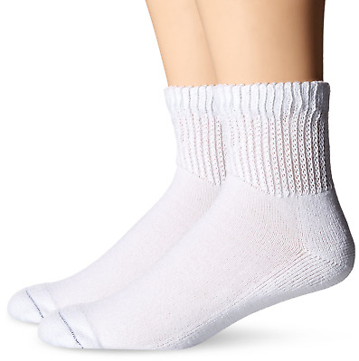 Dr. Scholls Mens 2 Pack Diabetes and Circulatory Ankle Socks,  White, Shoe: