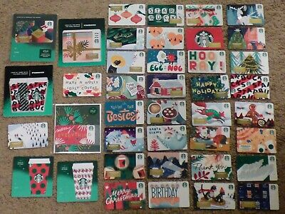 STARBUCKS Gift Card 2019 Christmas / Holiday - LOT of 46 Cards - Collectible