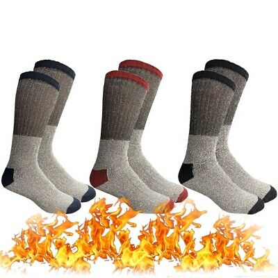 3 Pair Mens Winter Heavy Duty Heated Thermal Warm Socks Insulated Boot Sox 10-13