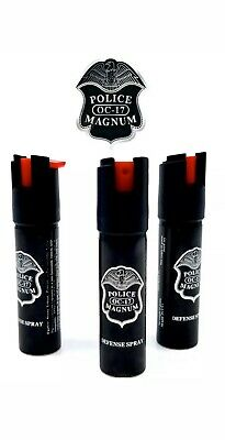 3 PACK Police Magnum pepper spray .75 oz Safety Lock Defense Security Protection