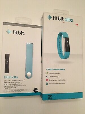 Fitbit Alta Activity Tracker Fitness Wristband - Teal Size Large New Band FB406