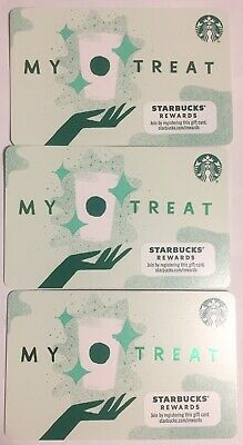 """Lot 3 Starbucks """"SNOWMAN AND 🐶 DOG"""" Christmas 2019 Recycled Paper Gift Card set"""