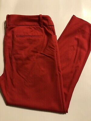 Mossimo Stretch Extensible Pink Capri Cropped Pants Slacks Size 8