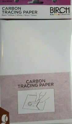 Carbon Tracing Paper in 5 colors - 21 x 30cm sheets by Birch