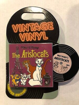 Disney Vintage Vinyl The Aristocats Le 3000 Marie & Thomas O'malley Cat Pin