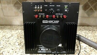 B&W Bowers & Wilkins ASW 2000 Subwoofer Plate Amp *Excellent working Condition*