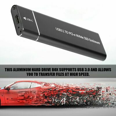 USB3.1 Type C to M.2 NVME SSD Hard Drive External Enclosure Case F. Win7/8 Win10
