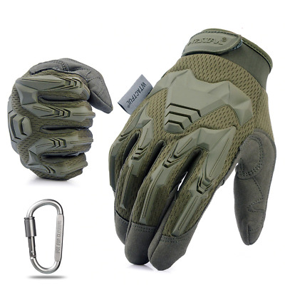 Tactical Military Gloves Army Combat Hard Knuckle Full Finger Shooting Motorbike
