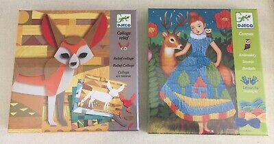 Djeco Collage Relief and Embroidery Kits