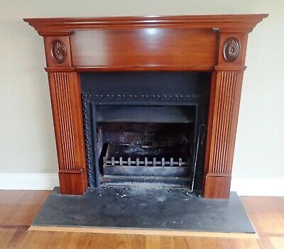Open Fireplace insert and Surround/Mantle Very Good Condition