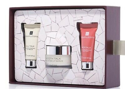 TEMPLE SPA Read My Lips Lip Care Gift Set BNIB limited Edition CHRISTMAS GIFT