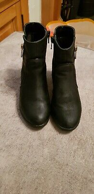 Girls Black River Island Boots Size 12 with small heel