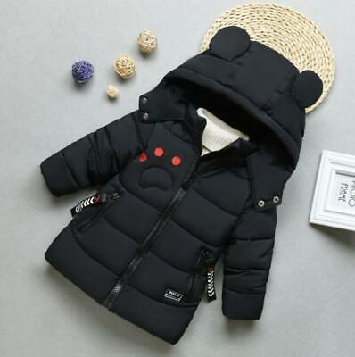 Toddler Kids Boys Cartoon Winter Warm Hooded Puffer Jacket Parka Quilted Coat