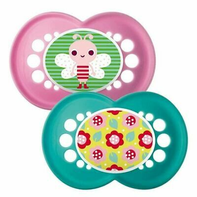 MAM Yummy Bugs 6+M Soother - Pink and Green